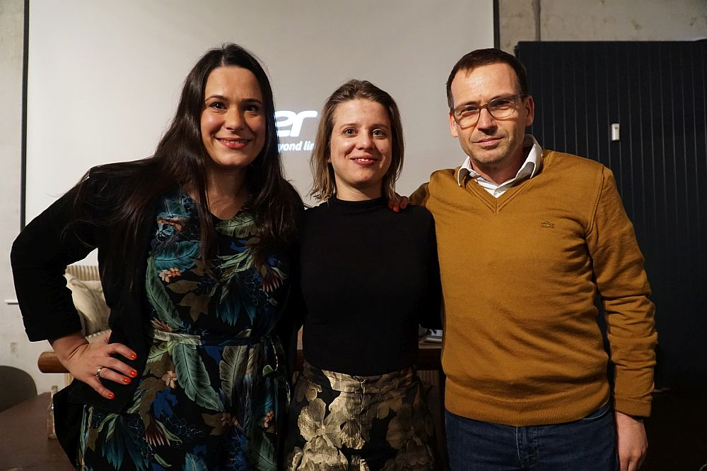 Sanja Stankovic (Hamburg Startups), Veronika Reichboth (Hamburg Invest) and Hartmut Giesen (Sutor Bank)