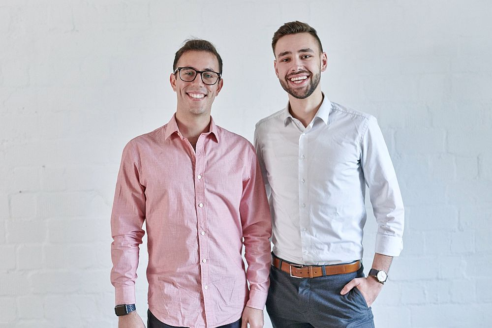 Abraham Duplaa and Moritz Beutter from Faktual at the next media accelerator